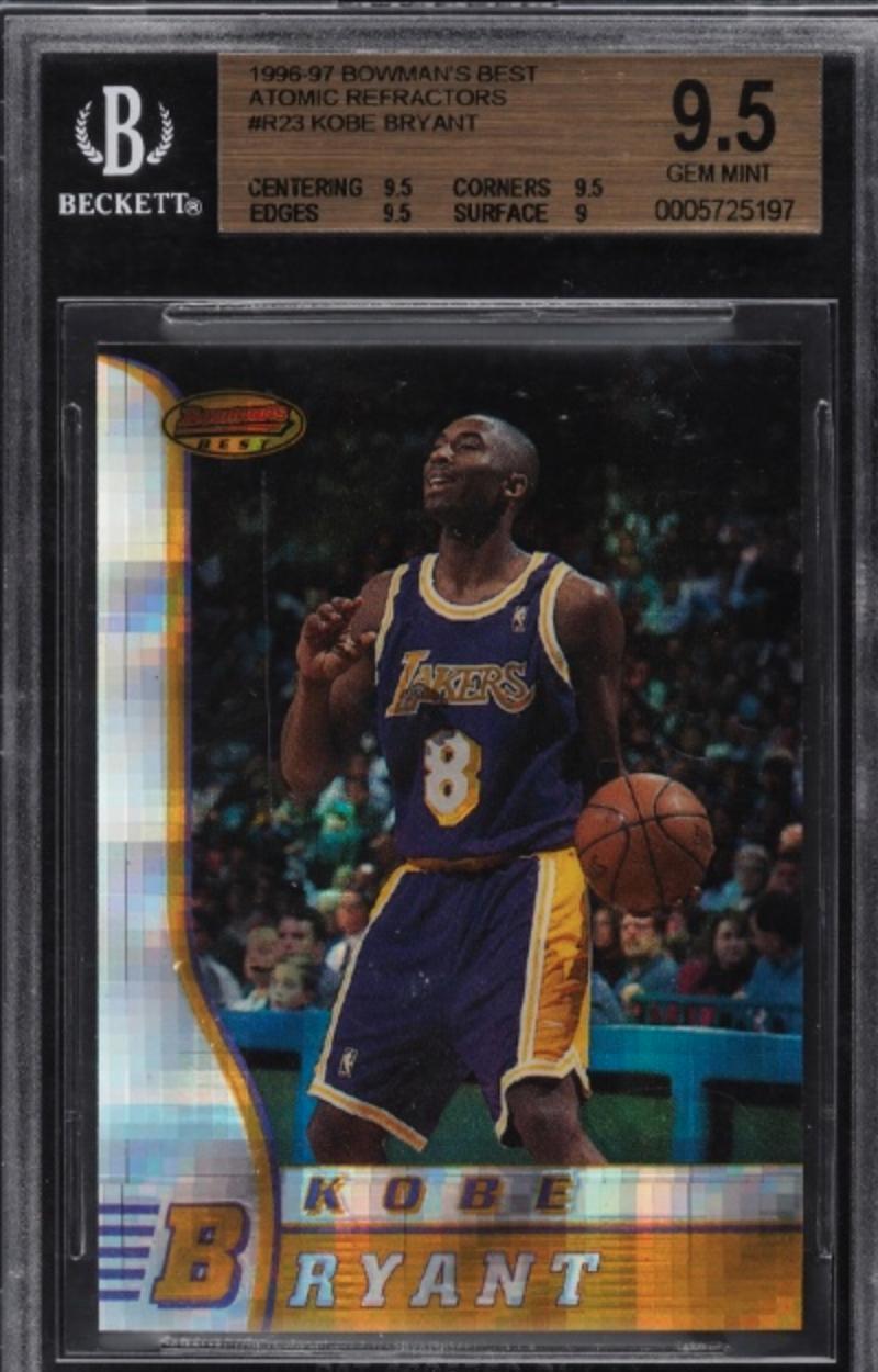 1996 Bowman's Best Atomic Refractor #R23 Kobe Bryant (BGS 9.5)