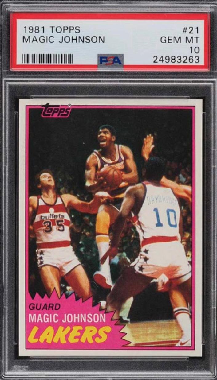 1981 Topps Magic Johnson Card (PSA 10)