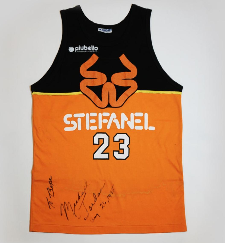 """1985 Michael Jordan """"Shattered Backboard"""" Jersey (Signed)"""
