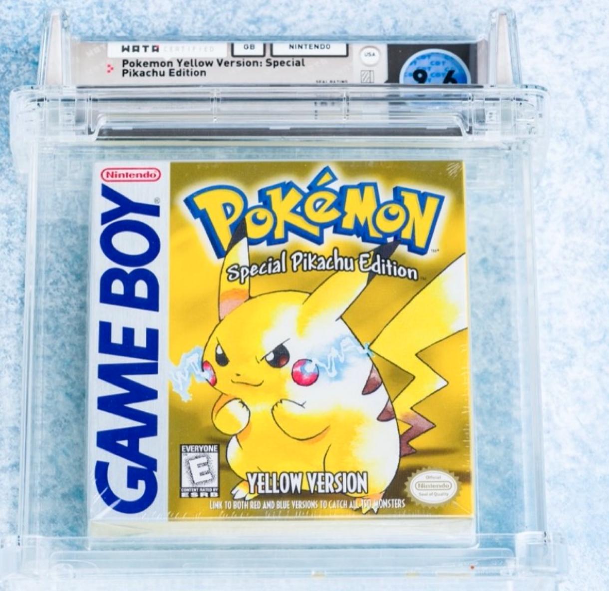 1999 Game Boy Pokémon Yellow (WATA 9.6, Seal A++)