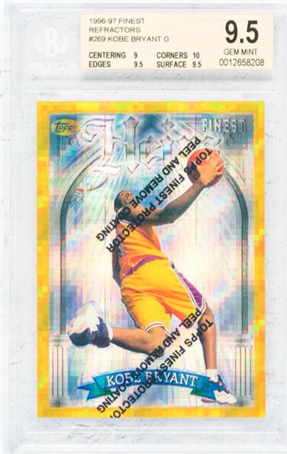 1996 Topps Finest Refractors Kobe Bryant Rookie Card (BGS 9.5)