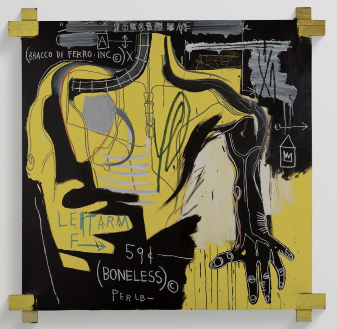 Untitled (Bracco di Ferro) (1983)- Jean-Michel Basquiat