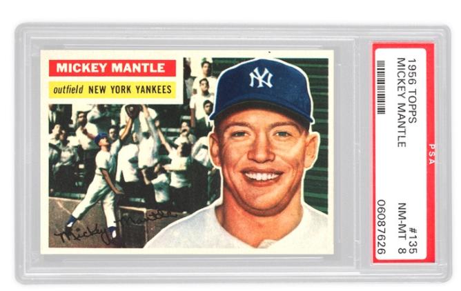 1956 Topps Mickey Mantle Basket 2x (PSA 8)
