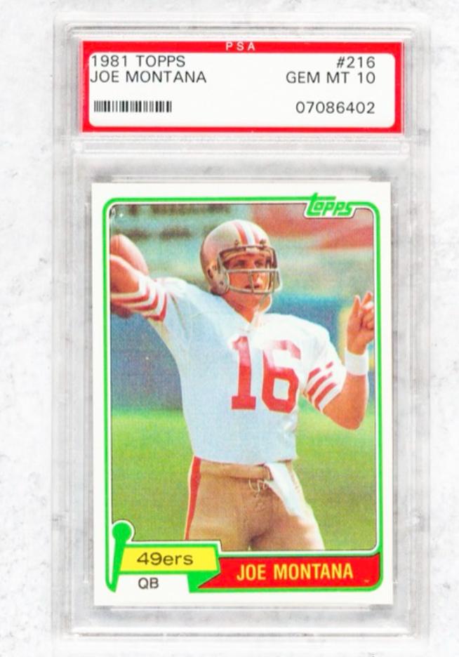 1981 Topps Joe Montana Rookie Card (PSA 10)