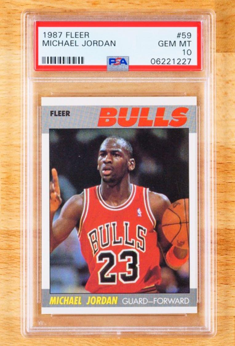 1987 Fleer Michael Jordan Card (PSA 10)
