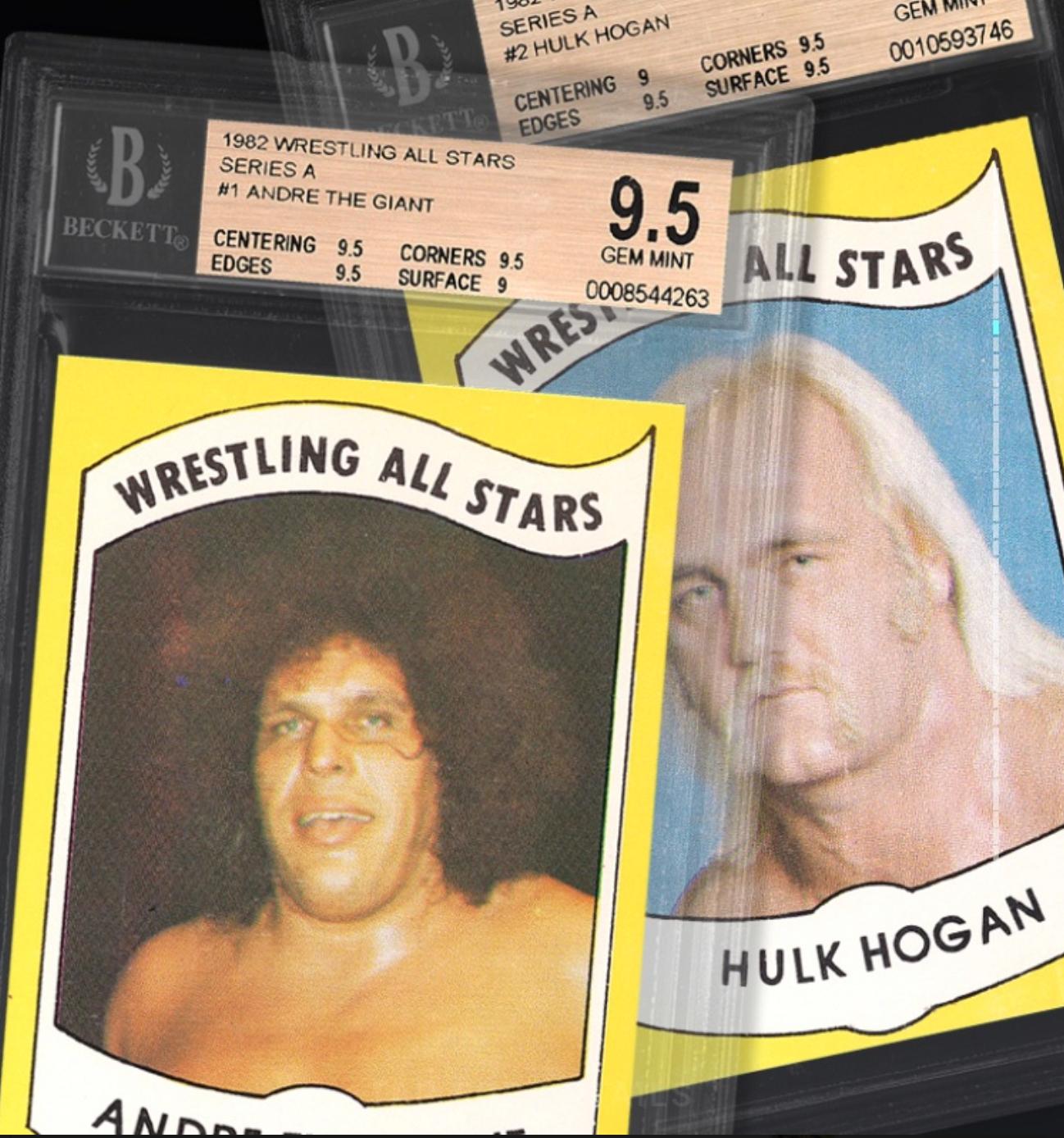 Wrestle Mania Basket ft. Hulk Hogan/Andre the Giant (BGS 9.5)