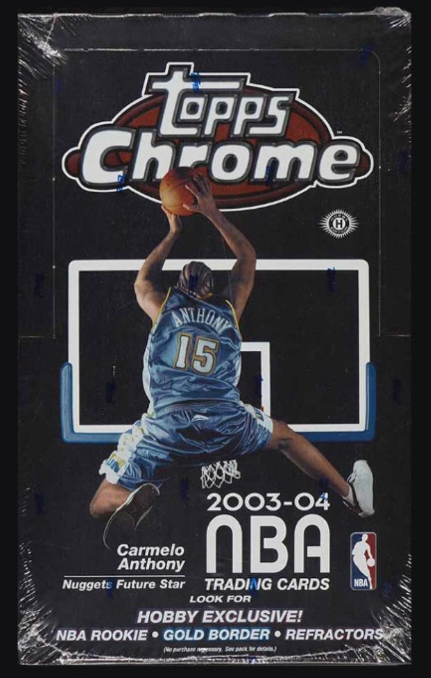 2003 Topps Chrome Hobby Box