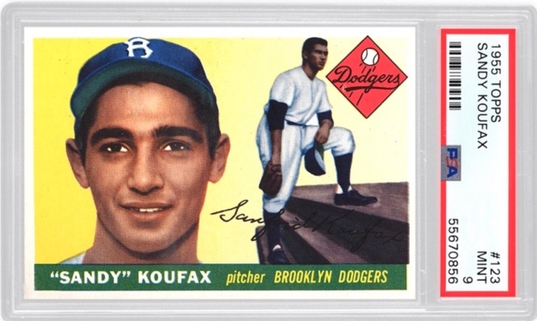 1955 Topps Sandy Koufax Rookie Card (PSA 9)