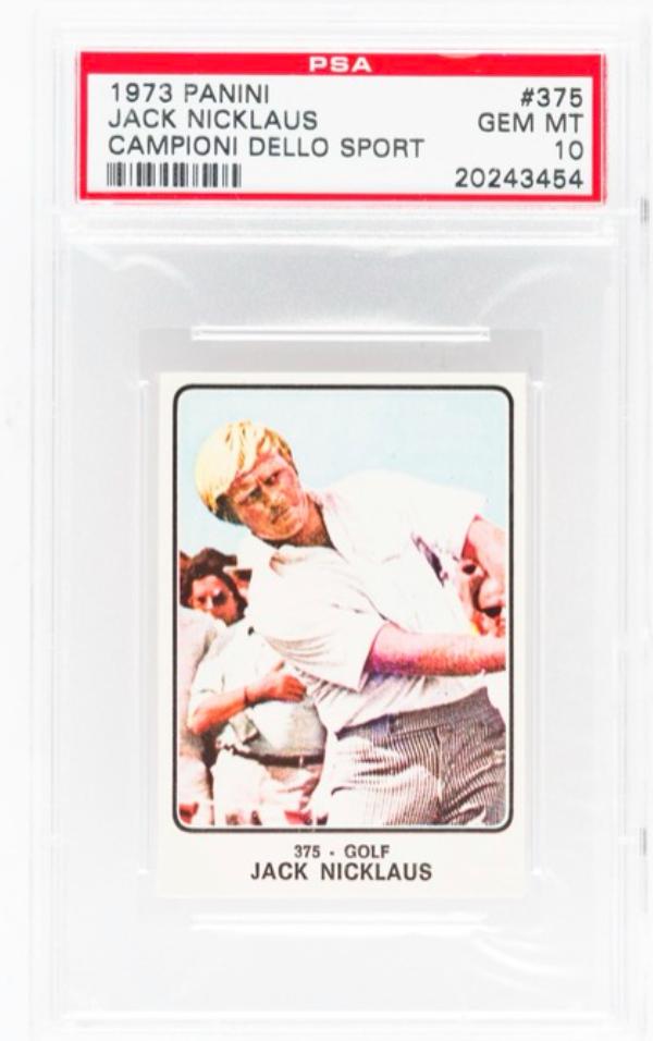 1973 Panini Jack Nicklaus Rookie Card (PSA 10)