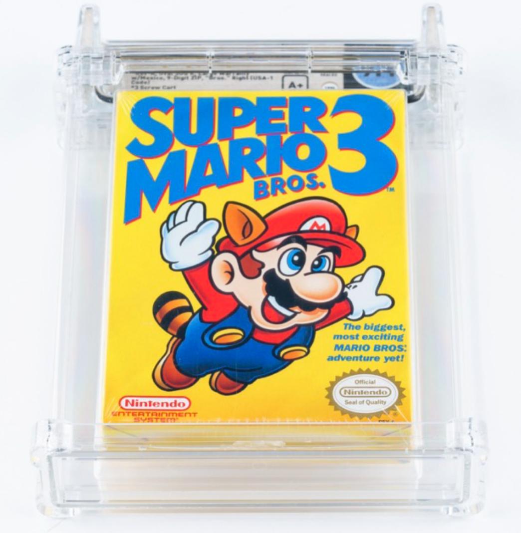 1990 NES Super Mario Bros. 3 (WATA 9.4, A+ Sealed)
