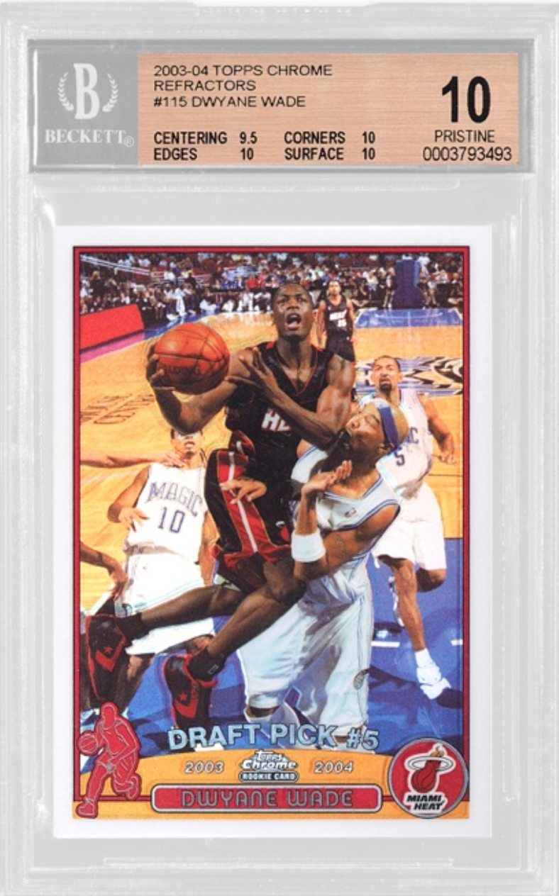 2003-04 Topps Dwayne Wade Chrome Refractor Rookie Card (BGS 10)