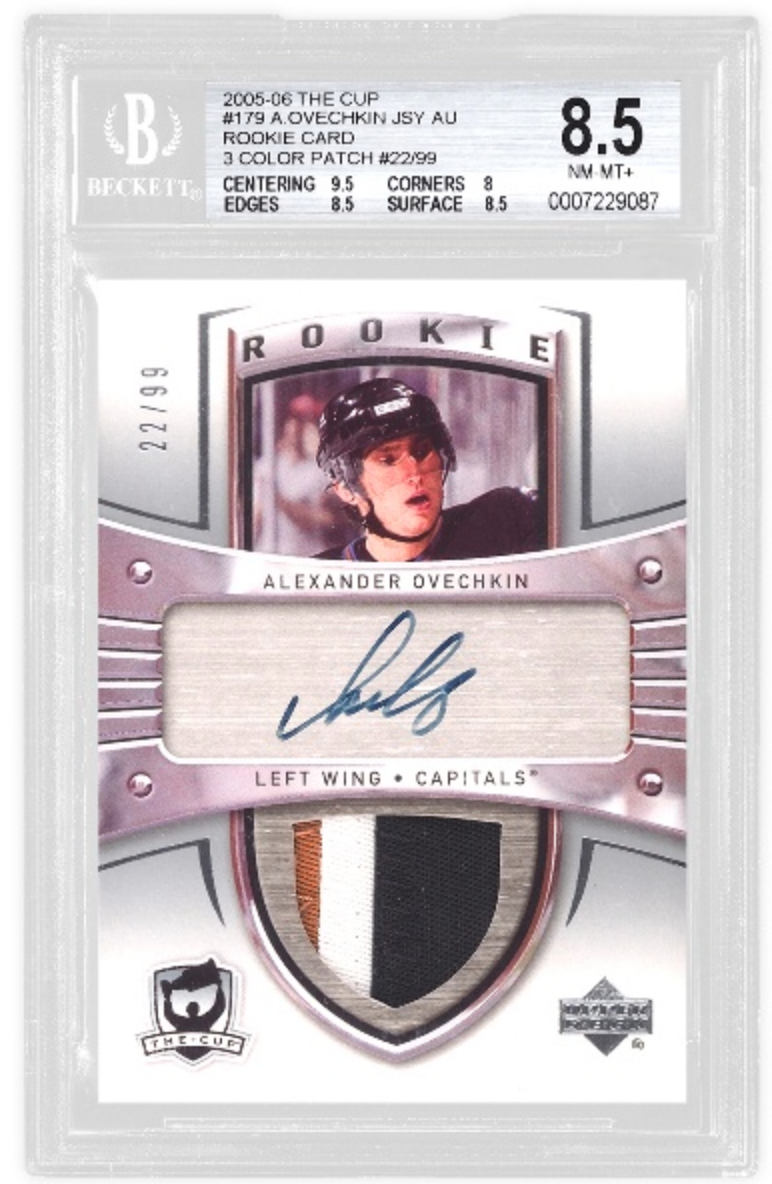2005-06 The Cup Alexander Ovechkin RPA (BGS 8.5)
