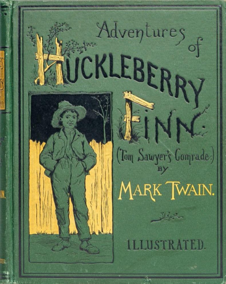 Mark Twain: Adventures of Huckleberry Finn (1st Ed.)