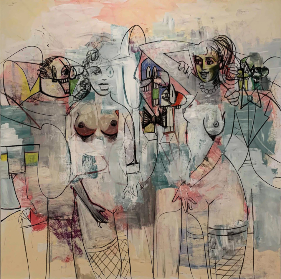 Listening to Voices by George Condo