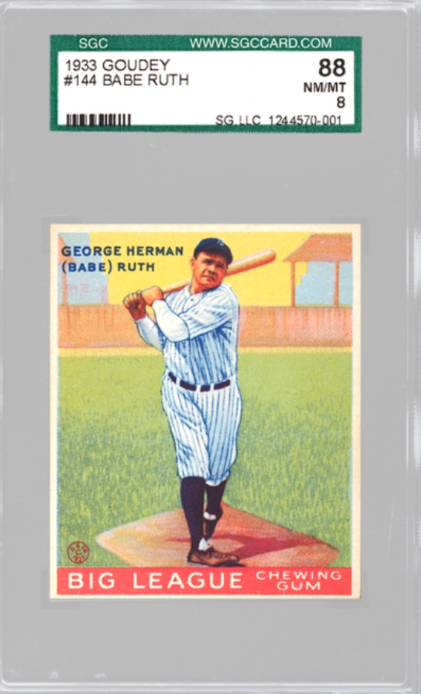 1933 Goudey Babe Ruth #144 (SGC 8)