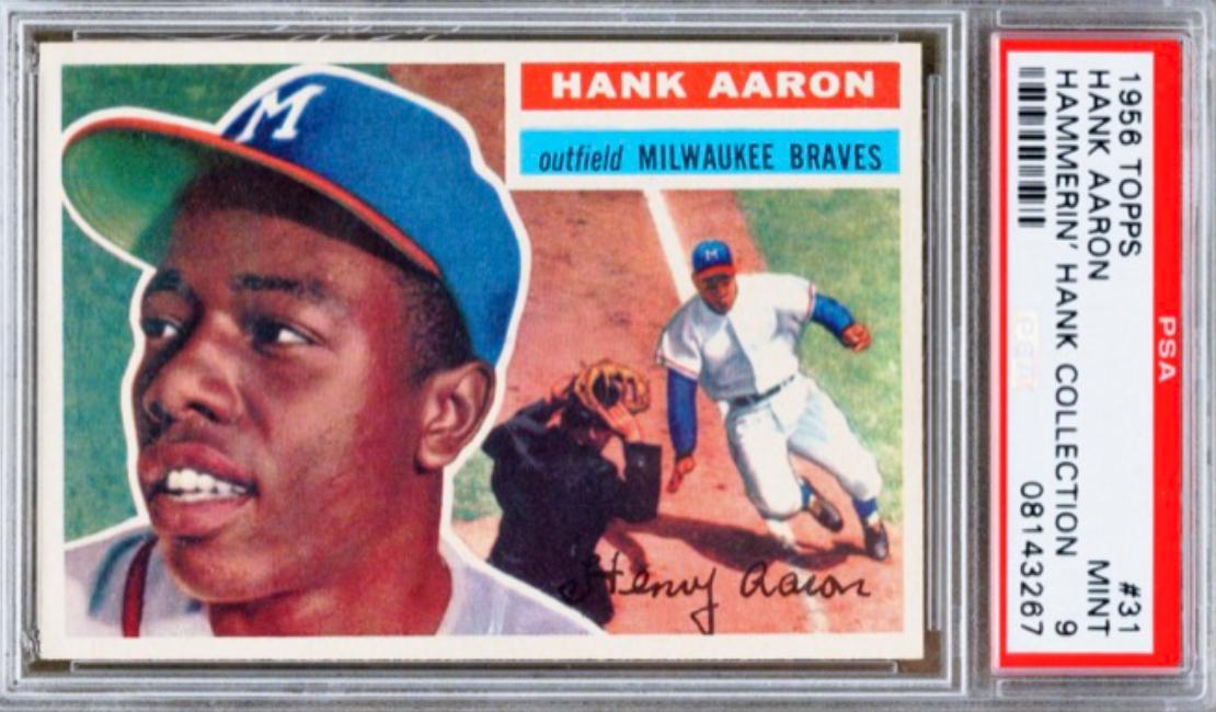 1956 Topps Hank Aaron (PSA 9)
