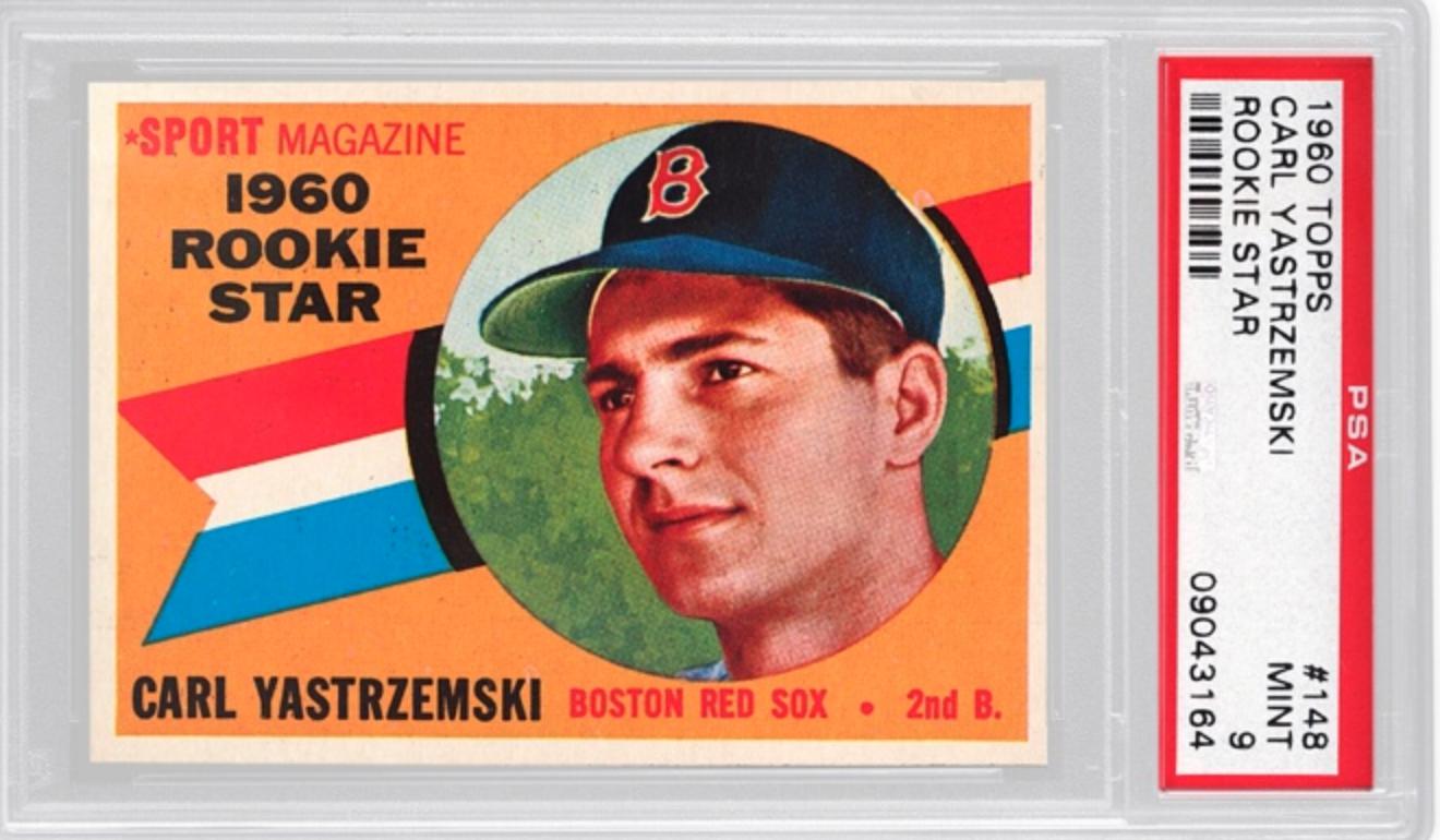 1960 Topps Carl Yastrzemski Rookie Card Basket 2x (PSA 9)