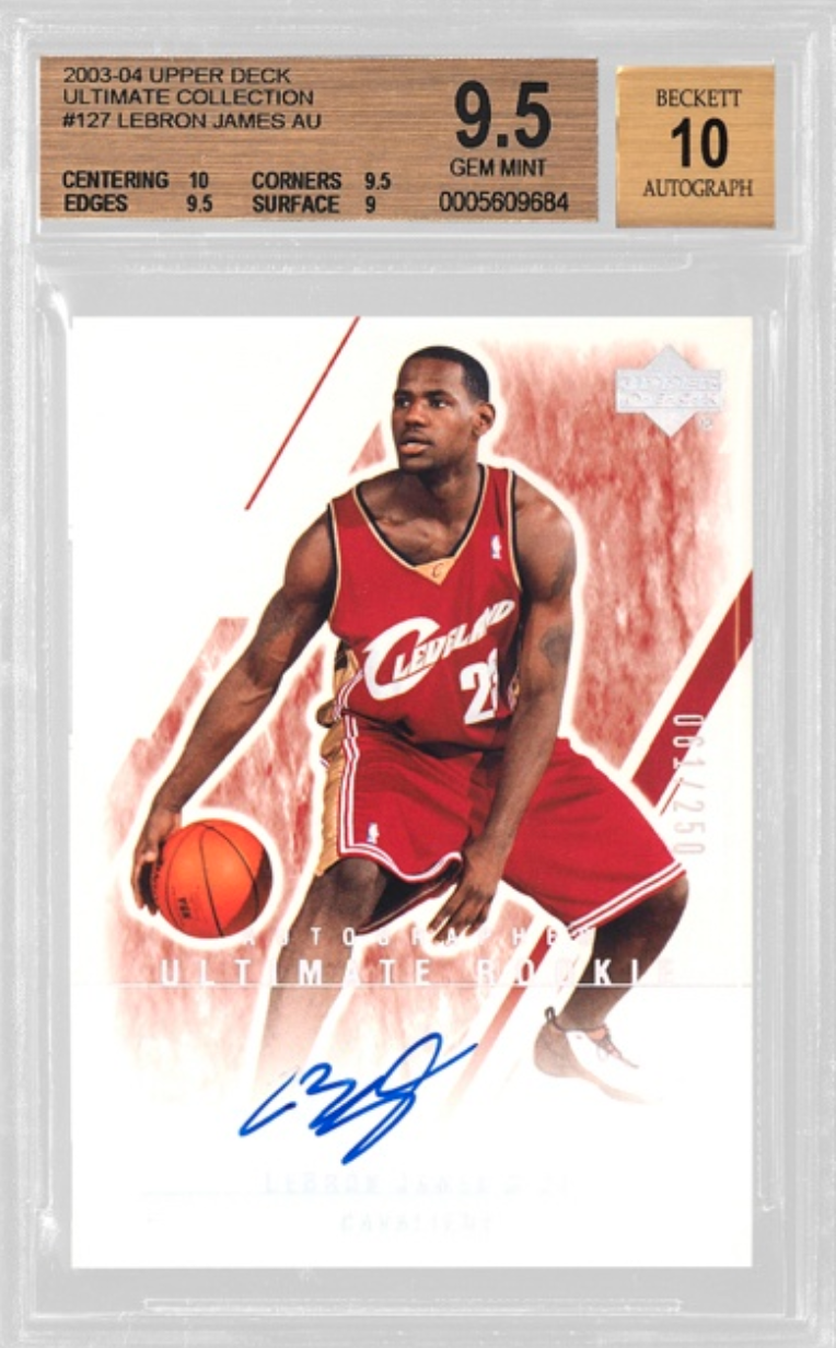 2003 Upper Deck LeBron James Ultimate Collection Auto (BGS 9.5)
