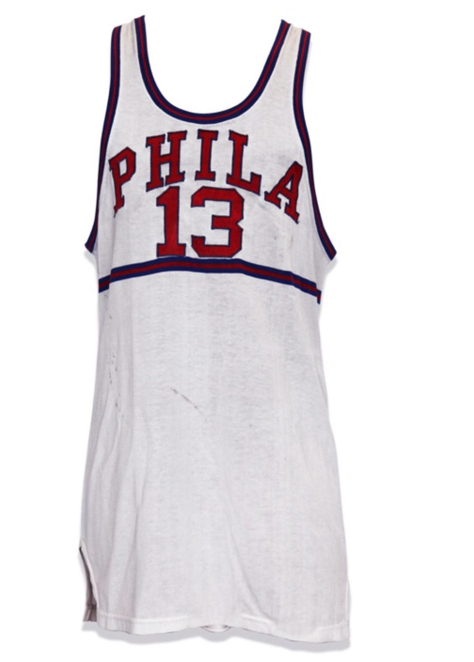 1959-60 Wilt Chamberlain Rookie Home Jersey