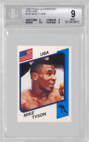 1986 Panini Supersport Mike Tyson Rookie Card Basket (BGS 9.5)