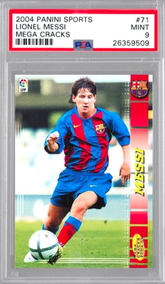 2004 Panini Sports Megacracks Lionel Messi (PSA 9)