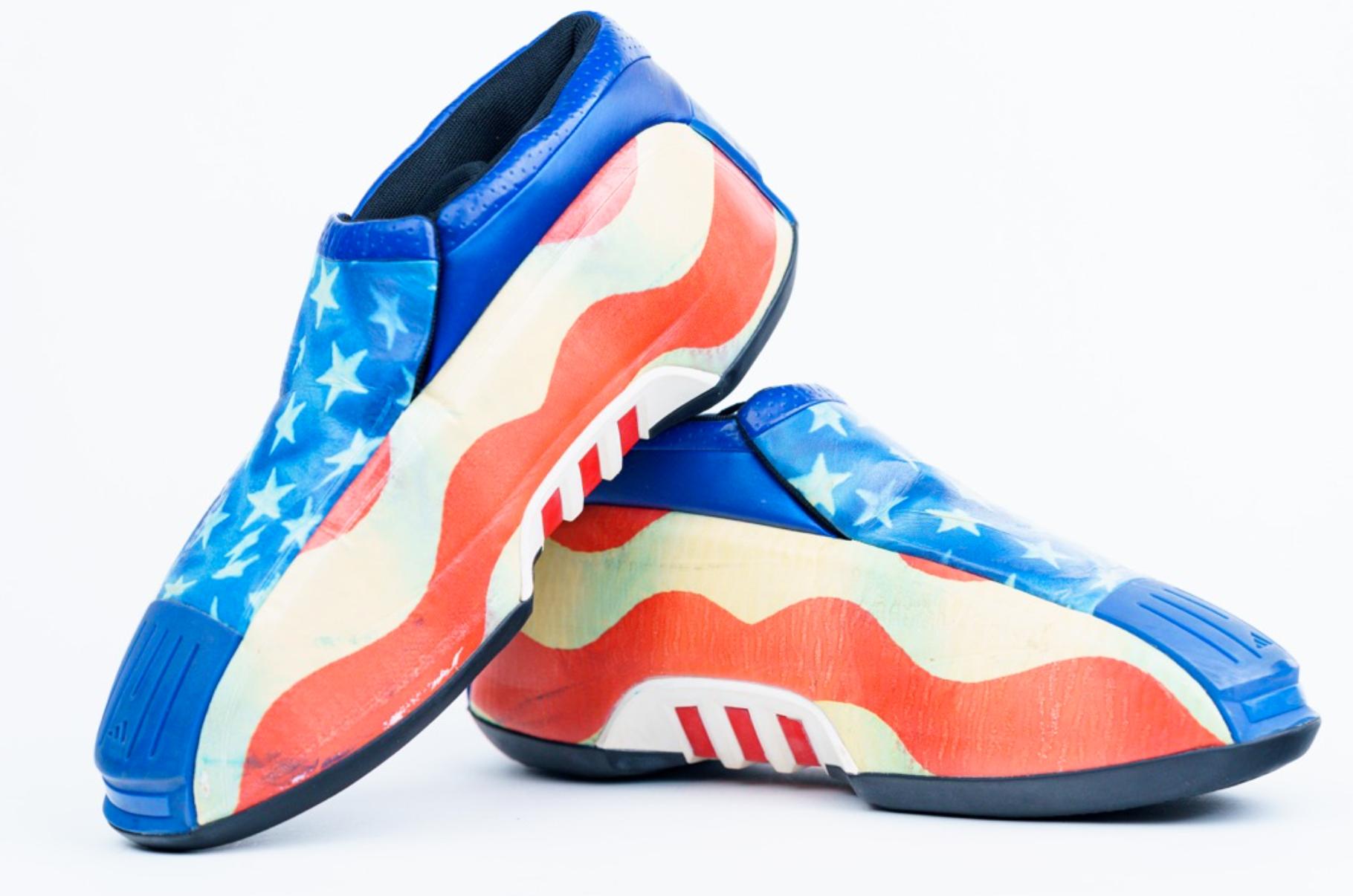 2002 LeBron James High School Sneakers (Gifted by Kobe)