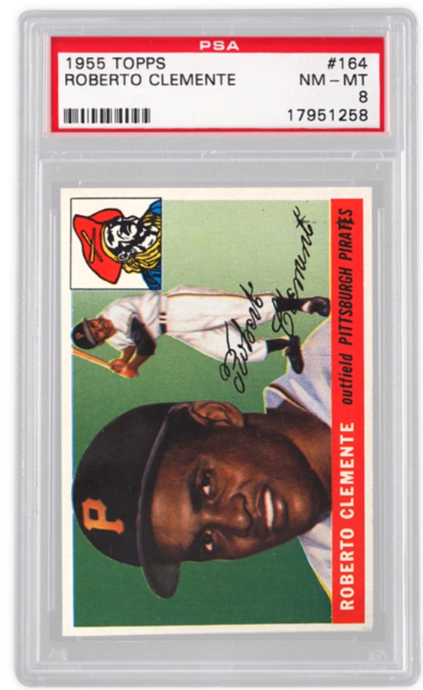 1955 Topps Roberto Clemente Rookie Card (PSA 8)