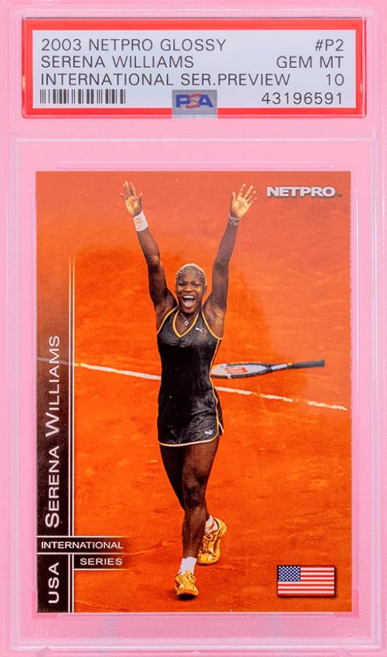 2003 Serena Williams NetPro Glossy Int'l Preview (PSA 10)