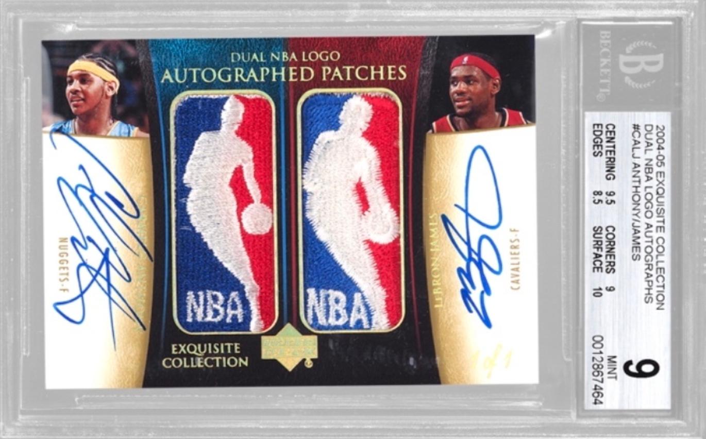 2004-05 Dual NBA Logoman LeBron James/Carmelo Anthony (BGS 9)