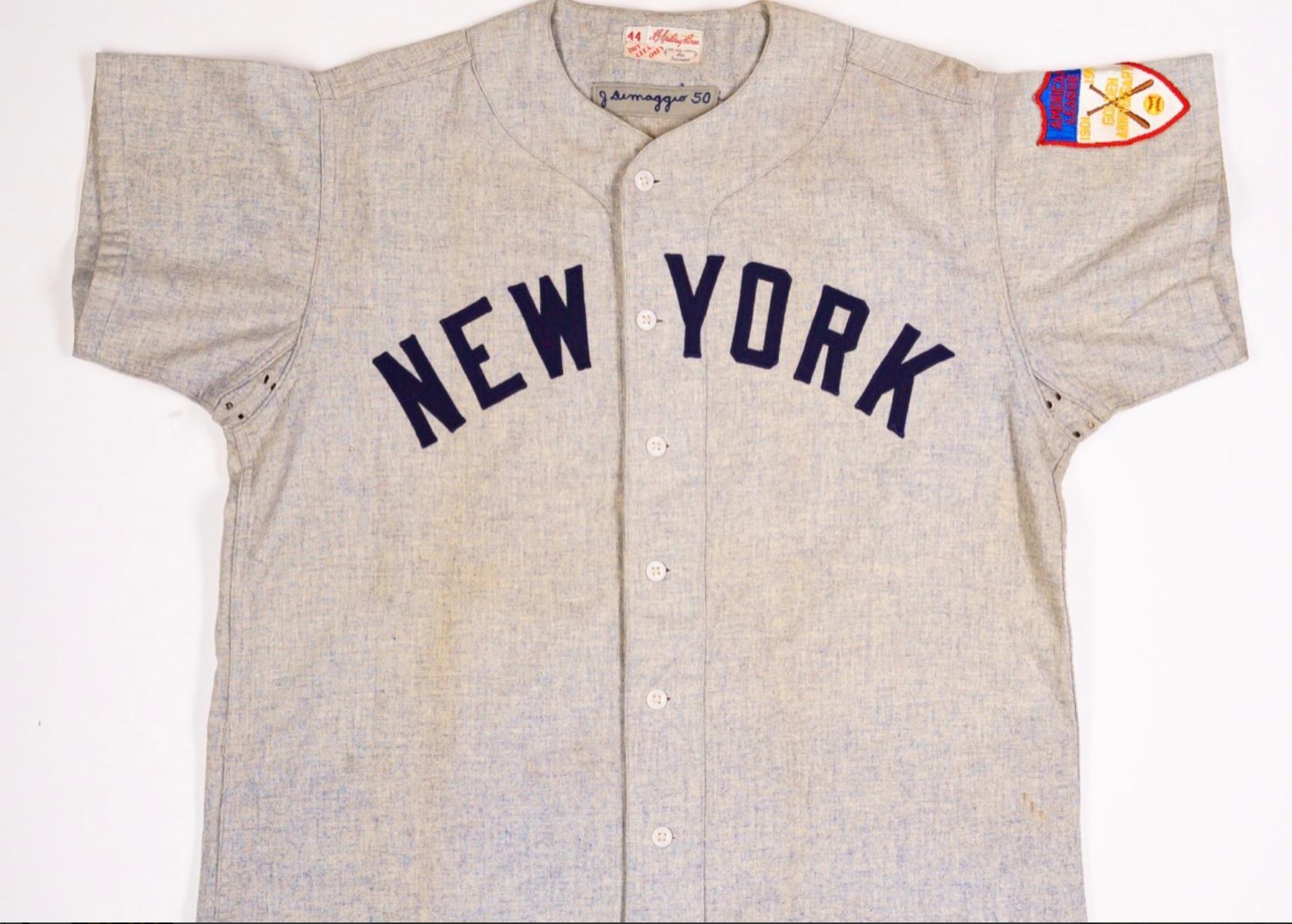 1950-51 Joe DiMaggio Game-Worn Jersey (Final Season)