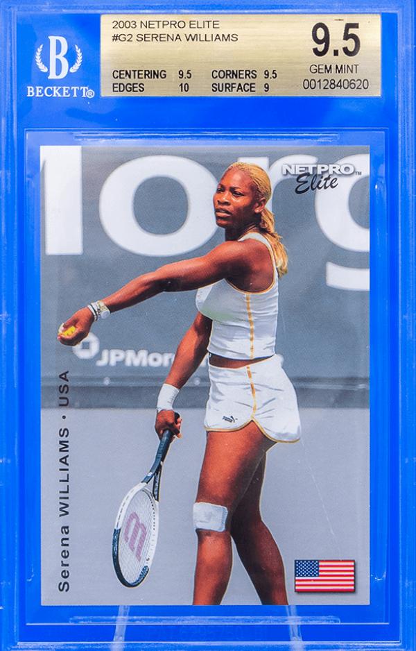 2003  NetPro Serena Williams Elite Glossy (BGS 9.5)