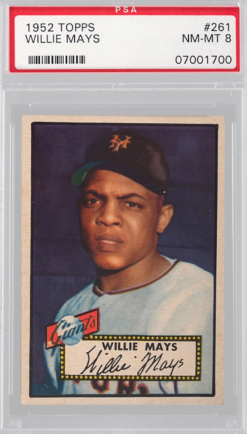 1952 Topps Willie Mays Card (PSA 8)