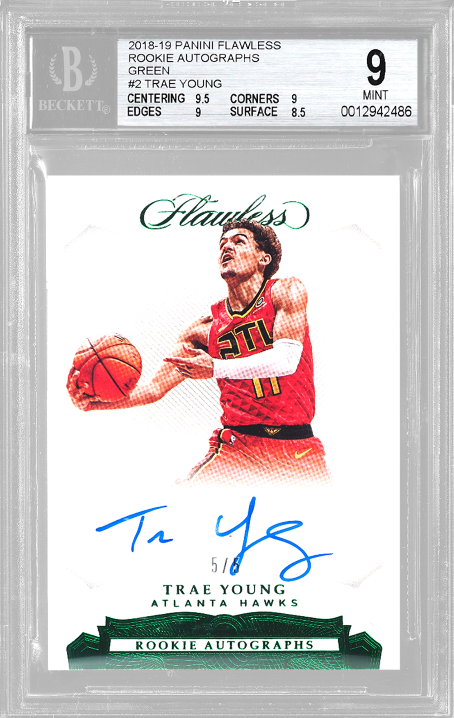 2018-19 Flawless Green Trae Young (BGS 9)