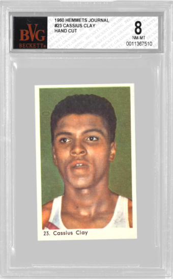 1960 Hemmets Journal Cassius Clay (Muhammad Ali) Rookie Card (BVG 8)