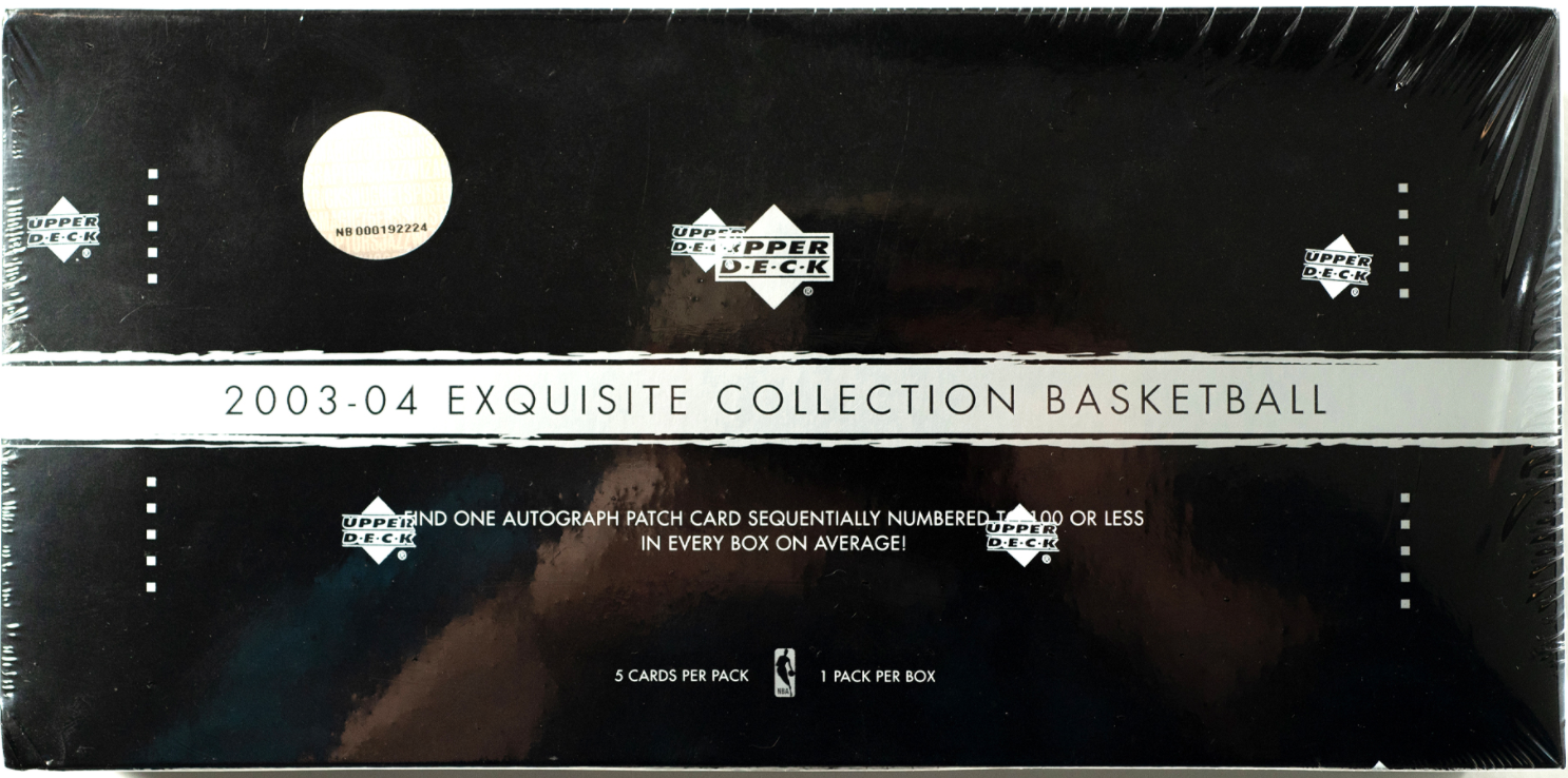 2003-04 Upper Deck Exquisite Basketball Sealed Hobby Box