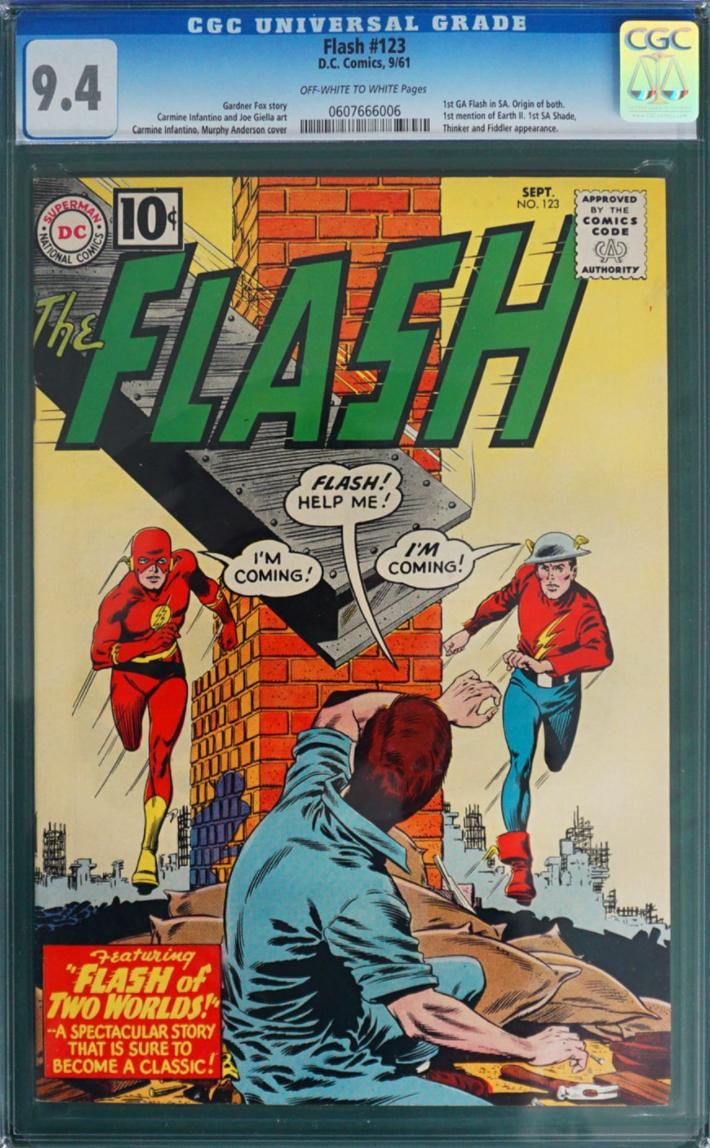 1961 DC Comics The Flash #123 (1st Multiverse) (CGC 9.4)