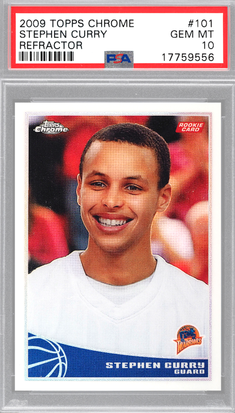 2009 Topps Chrome Refractor Stephen Curry Rookie Card (PSA 10)