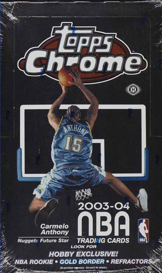 2003-2004 Topps Chrome Sealed Hobby Box