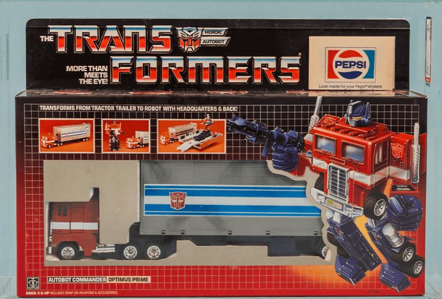 """1984 Transformers G1 """"Pepsi Edition"""" Optimus Prime (AFA 85)"""