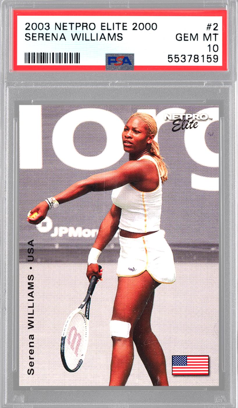 2003 Netpro Elite 2000 Serena Williams Basket 2x (PSA 10)