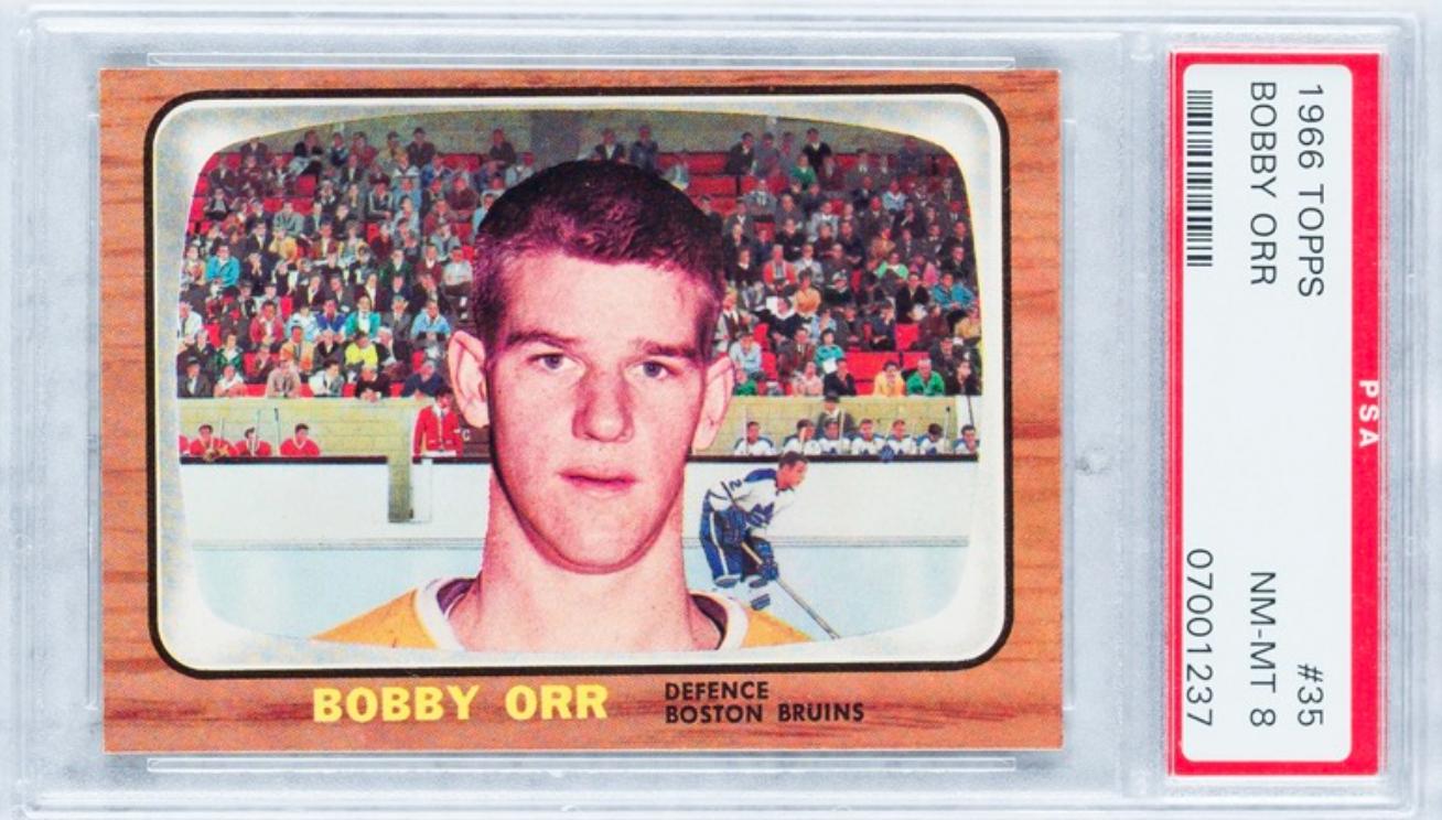 1966 Topps Bobby Orr Rookie Card (PSA 8)