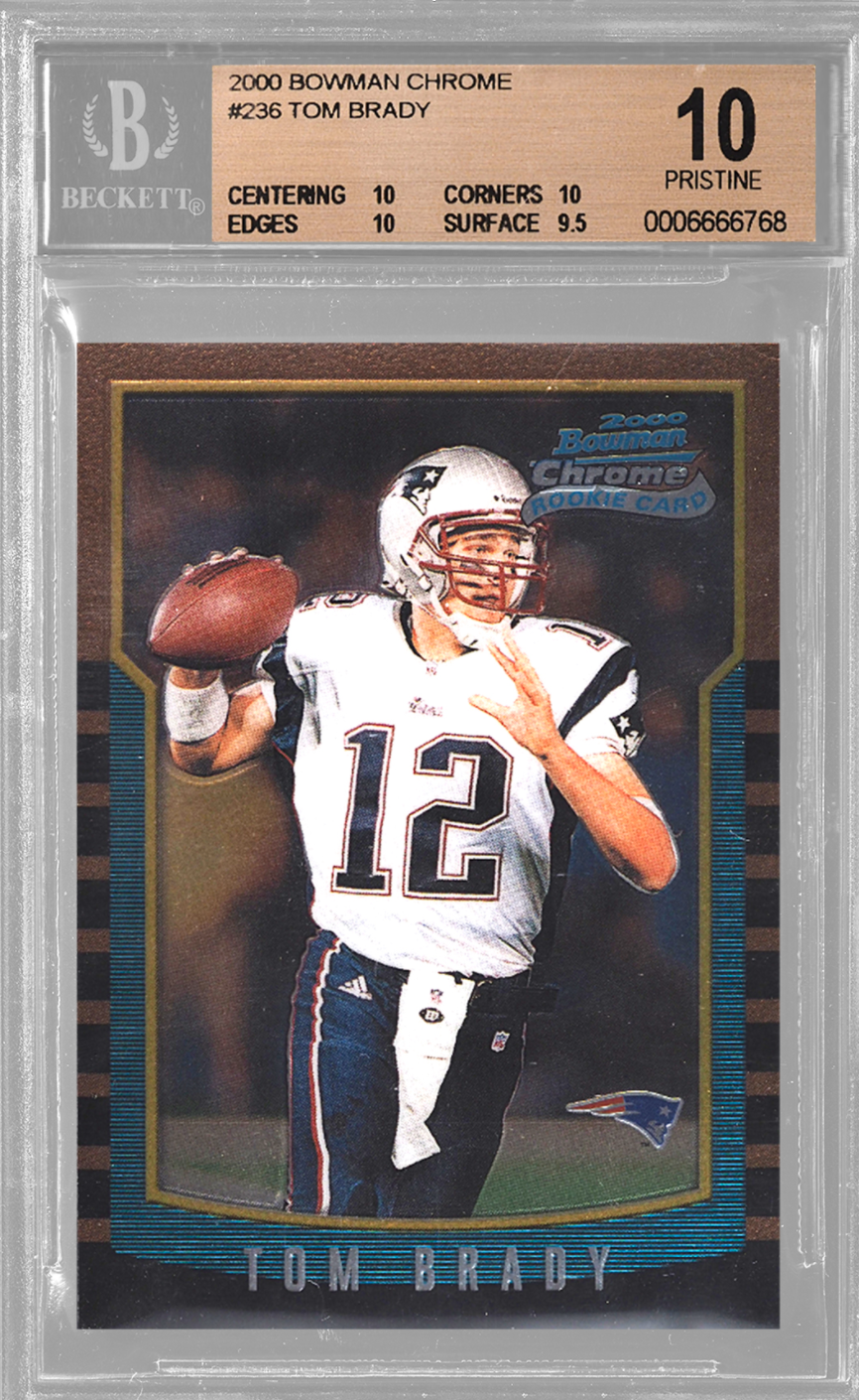 2000 Bowman Chrome Tom Brady Rookie Card (BGS 10)