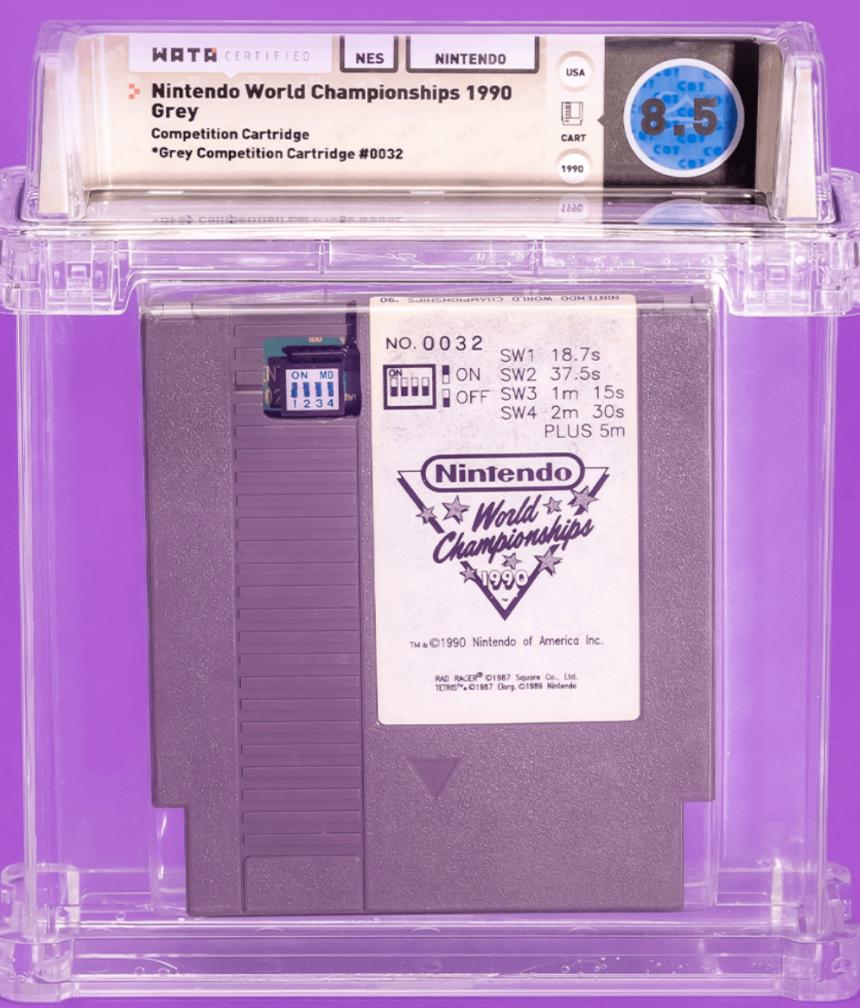 1990 NES Nintendo World Championships (WATA 8.5)