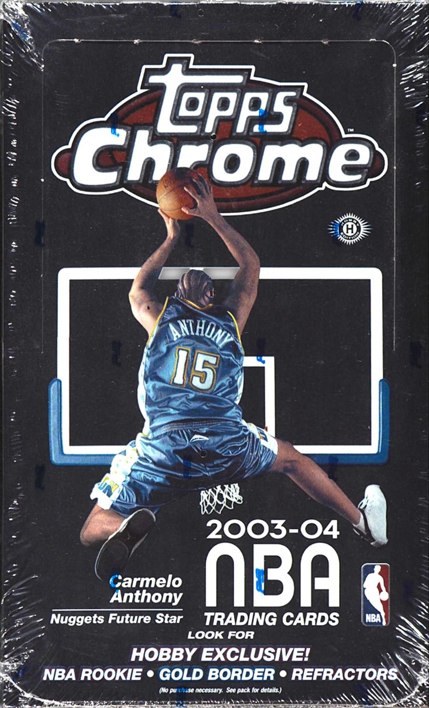 2003-04 Topps Chrome Hobby Box (Sealed)