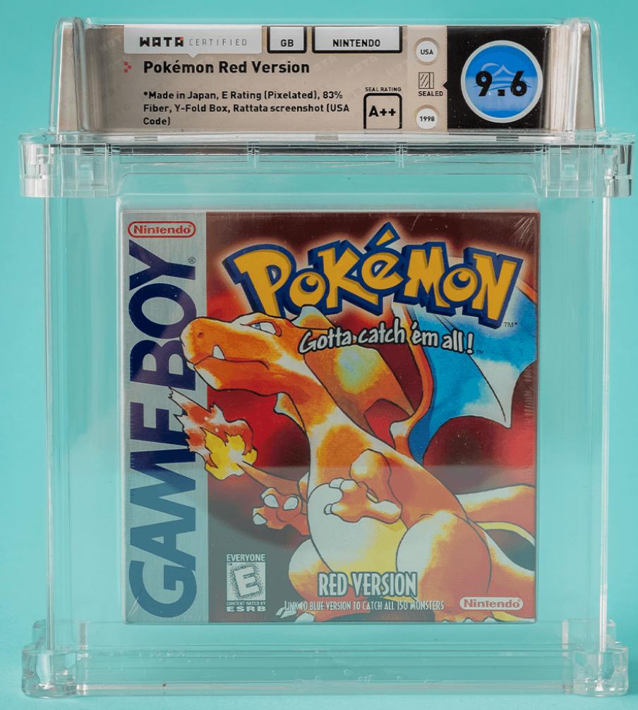 1996 Gameboy Pokémon Red (WATA 9.6 Seal A++)