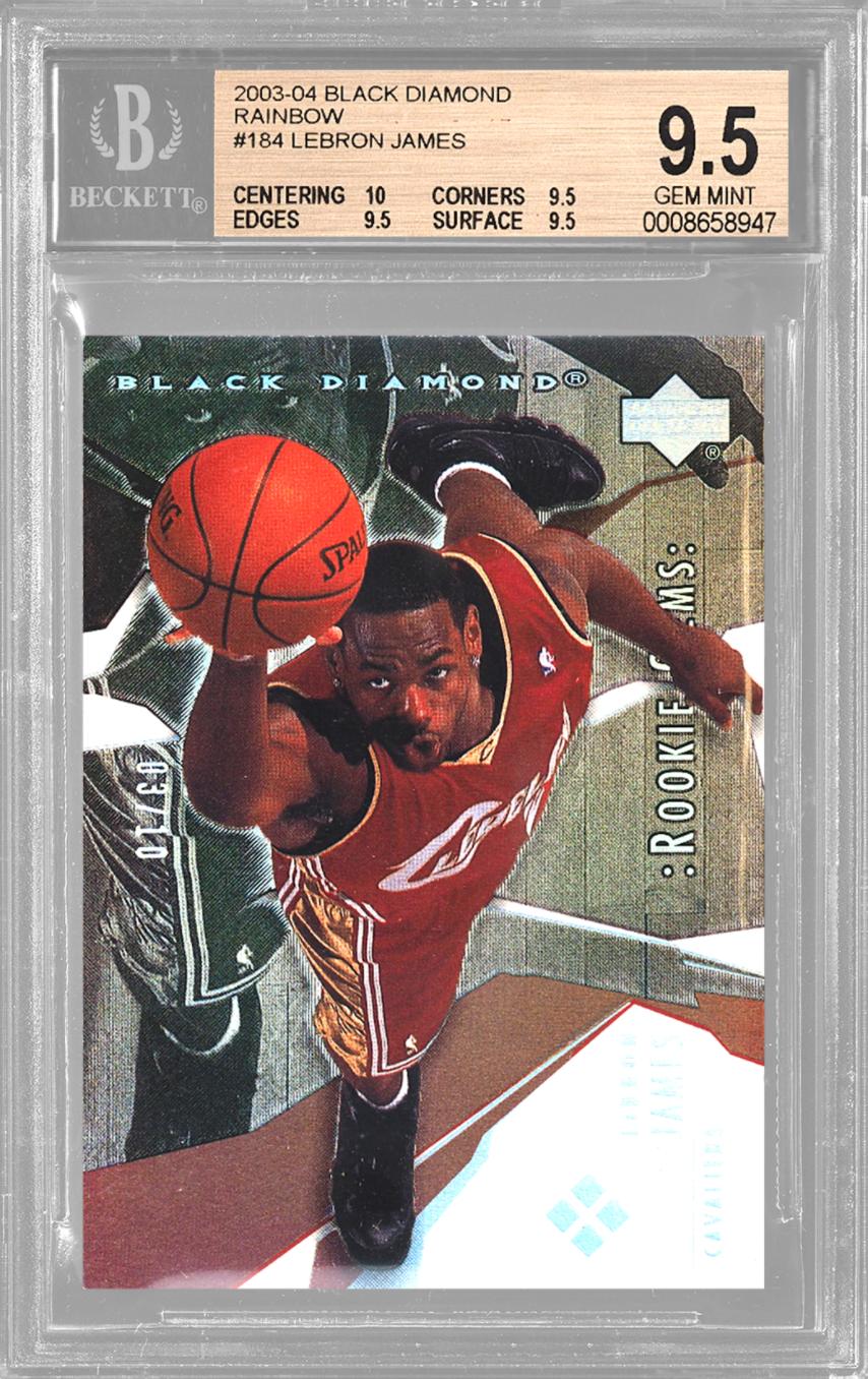 2003 UD Black Diamond Rainbow LeBron James Rookie Card (BGS 10)