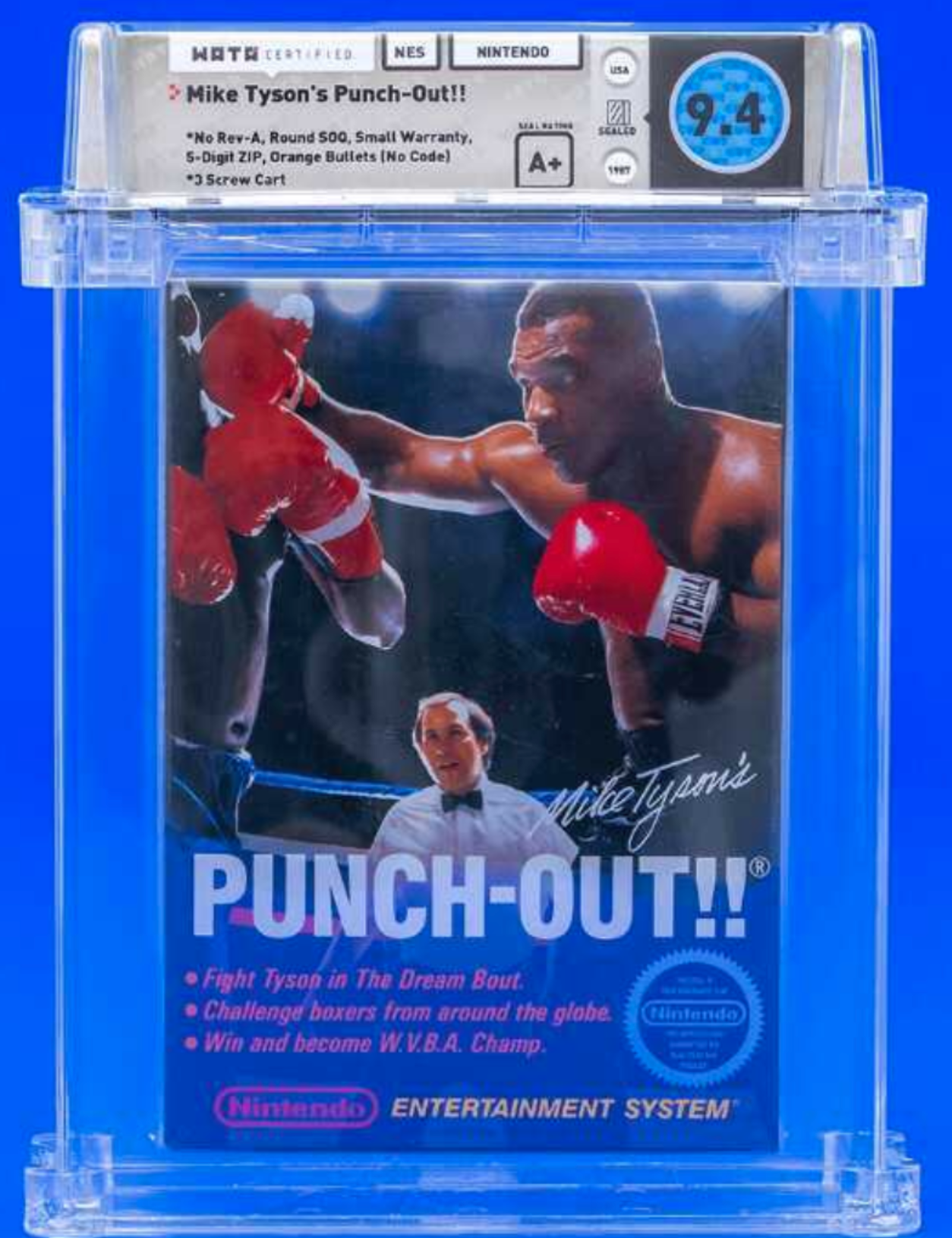 NES Mike Tyson's PUNCH-OUT!! (WATA 9.4 Seal A+)