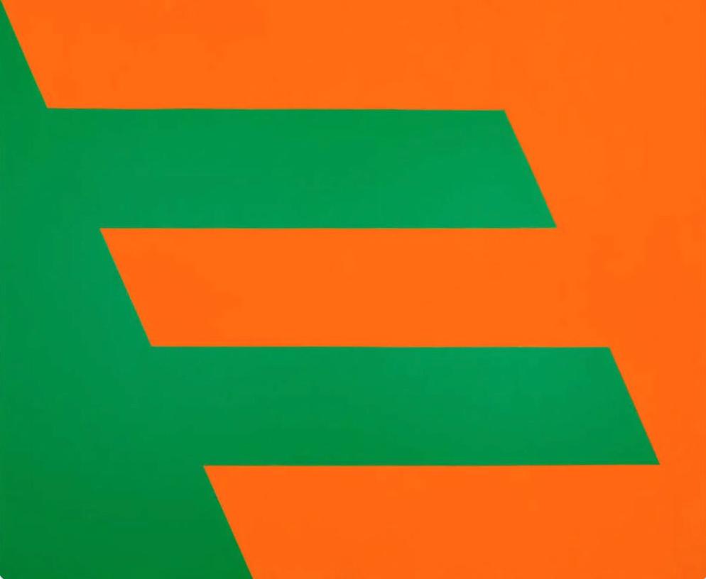 Green and Orange by Carmen Herrera (1958)