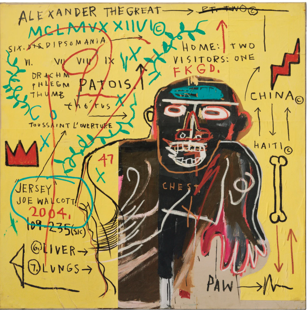 All Colored Cast (Part II) by Jean-Michel Basquiat (1982)