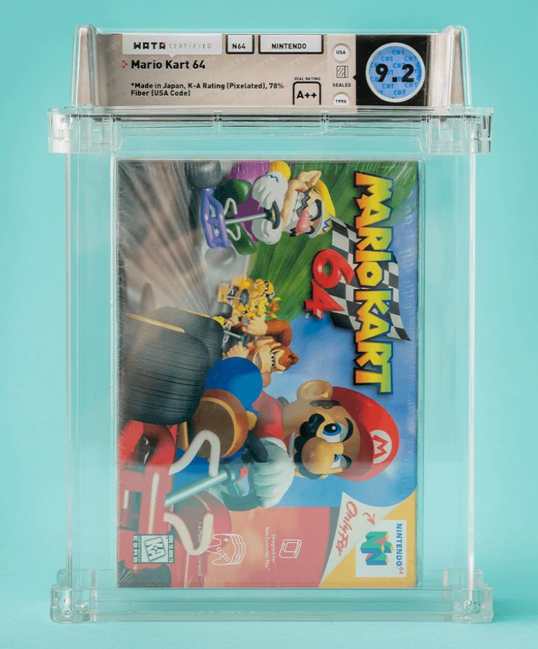1996 Nintendo Mario Kart 64 (WATA 9.4, A++Seal)